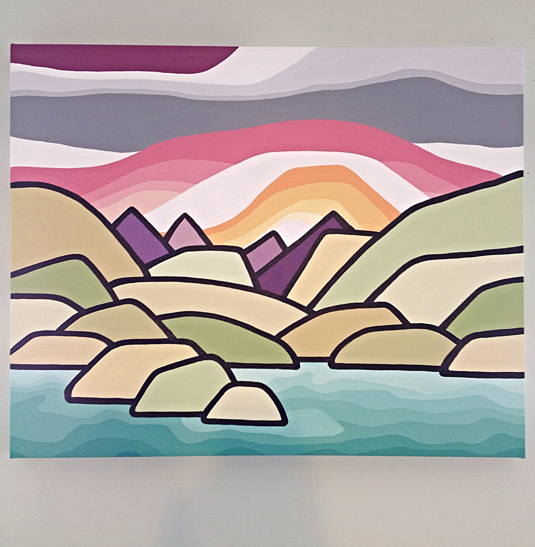 "Size: 24"" x 30"" acrylic on canvas  Price: $475"