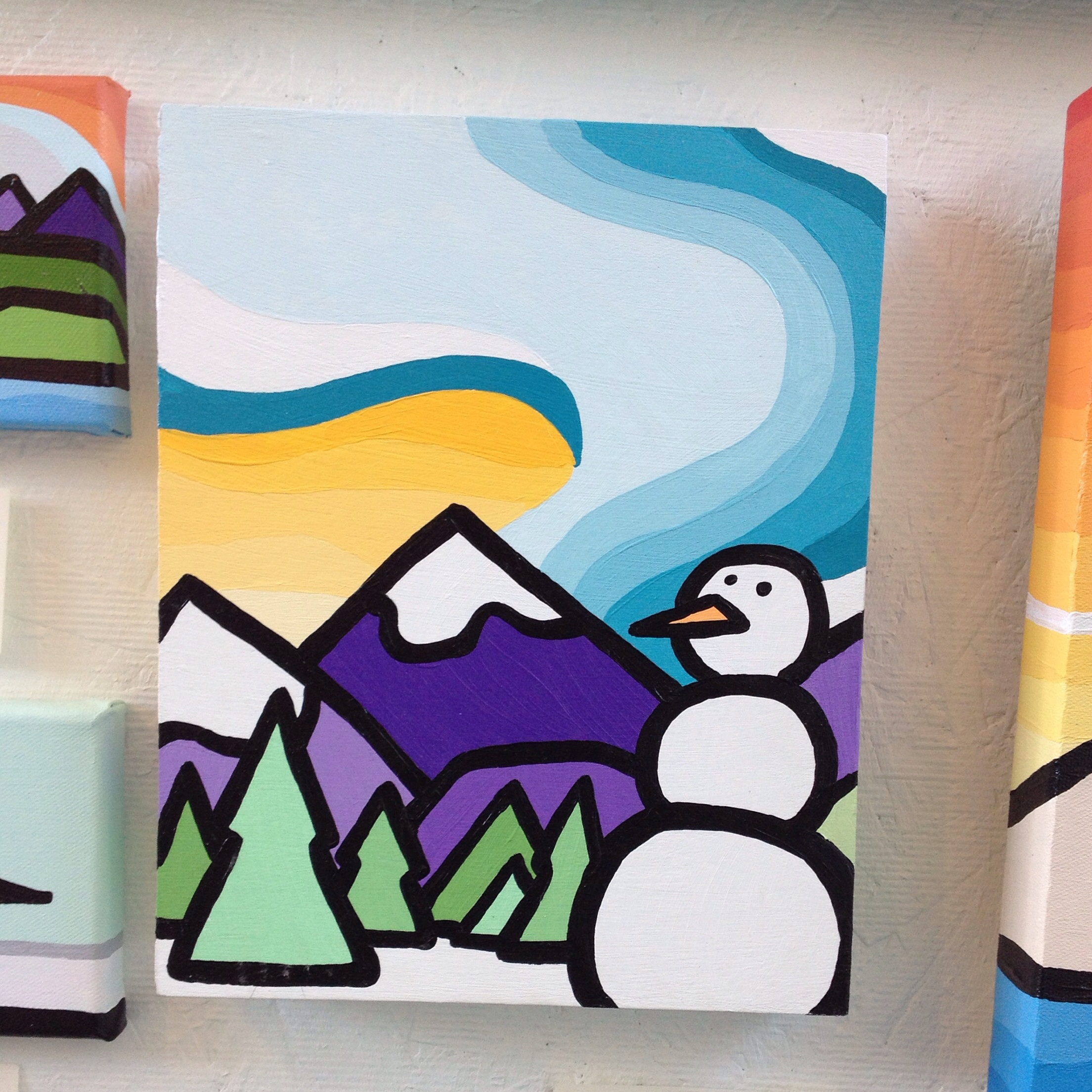 """'The Snowman' 10""""x8"""" SOLD"""