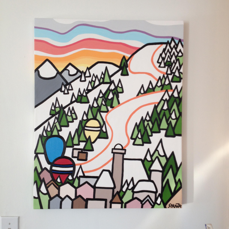 """Title: Kitzbuhel  Size: 24"""" x 20"""" acrylic on canvas COMMISSION SOLD"""