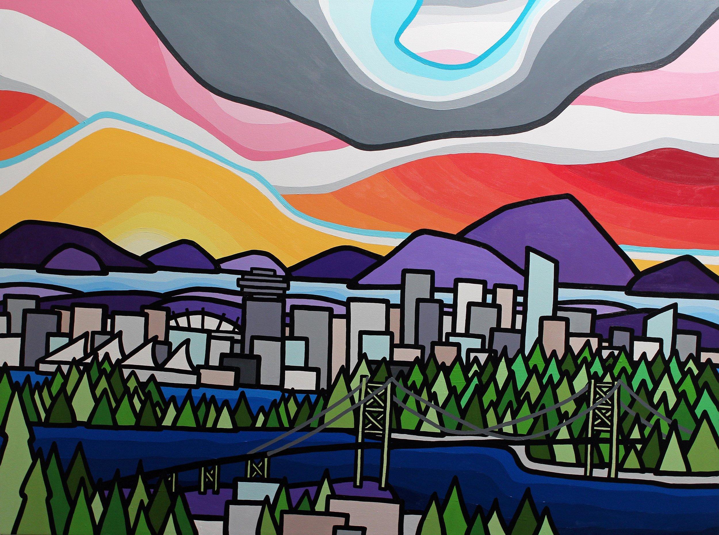 """Vancouver 36"""" x 48"""""""