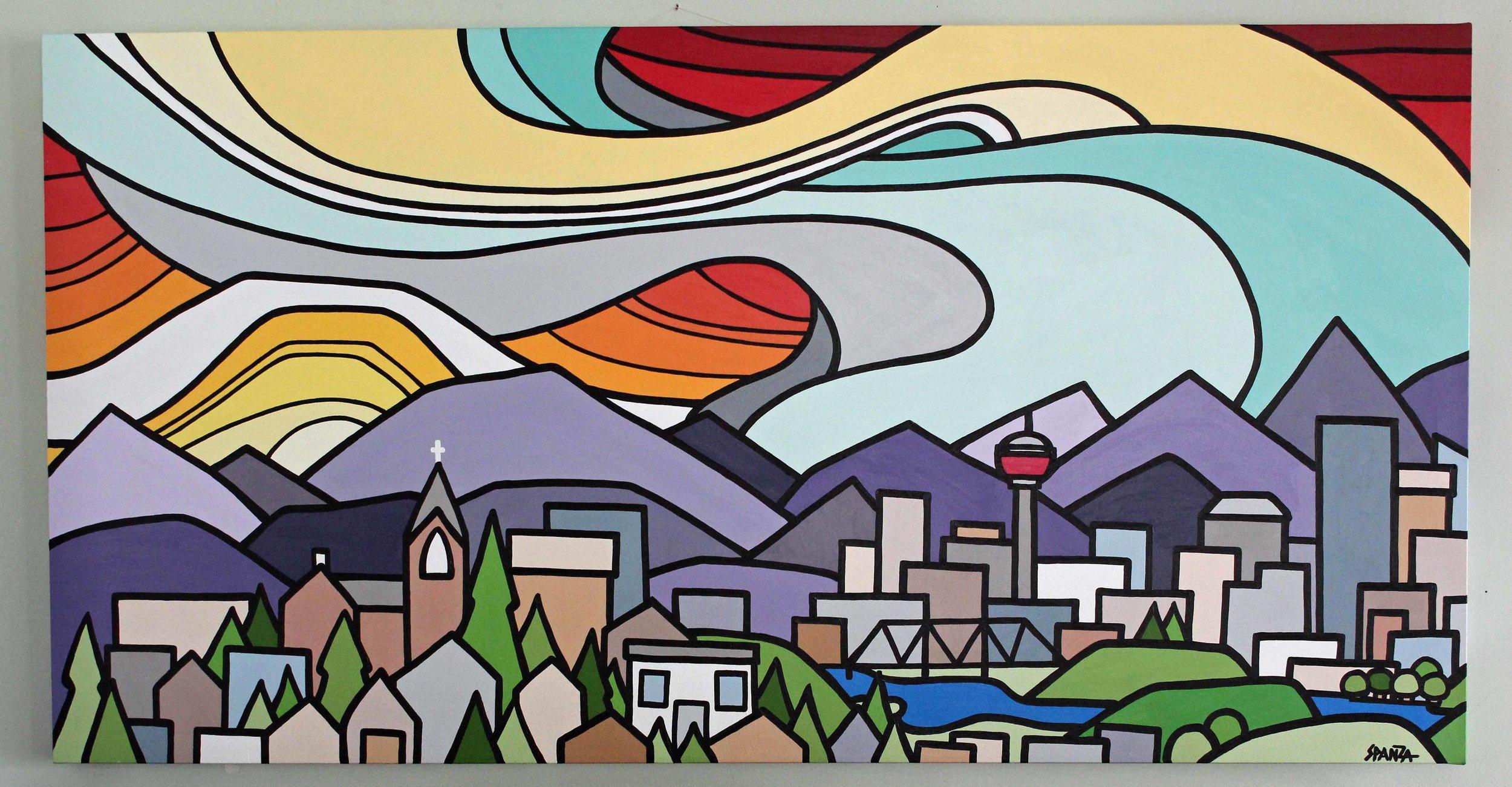 "Calgary 30"" x 60"" Commission"