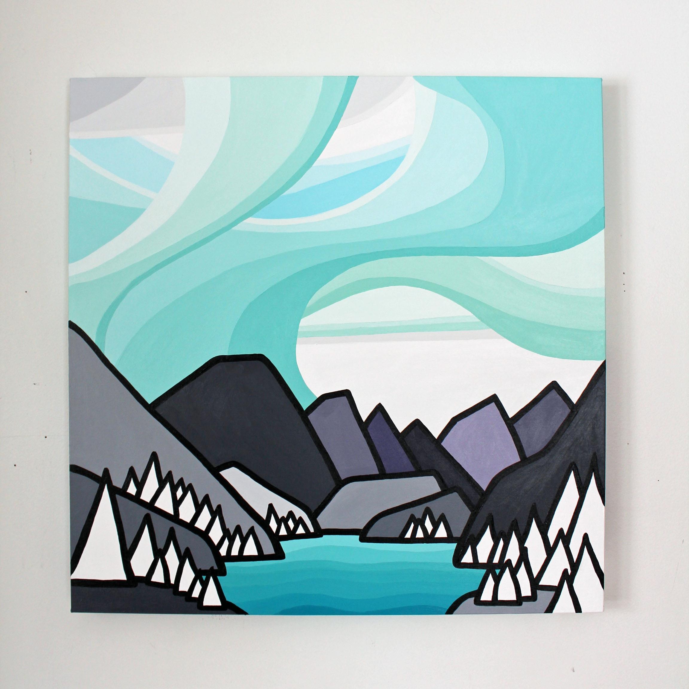 That Mountain Lake - Size: 24