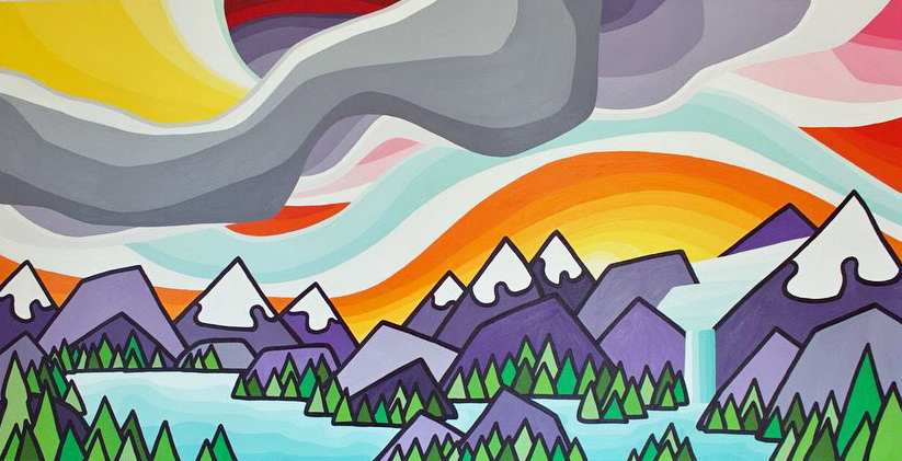 "Title: A Love of the Mountains 30"" x 60"""