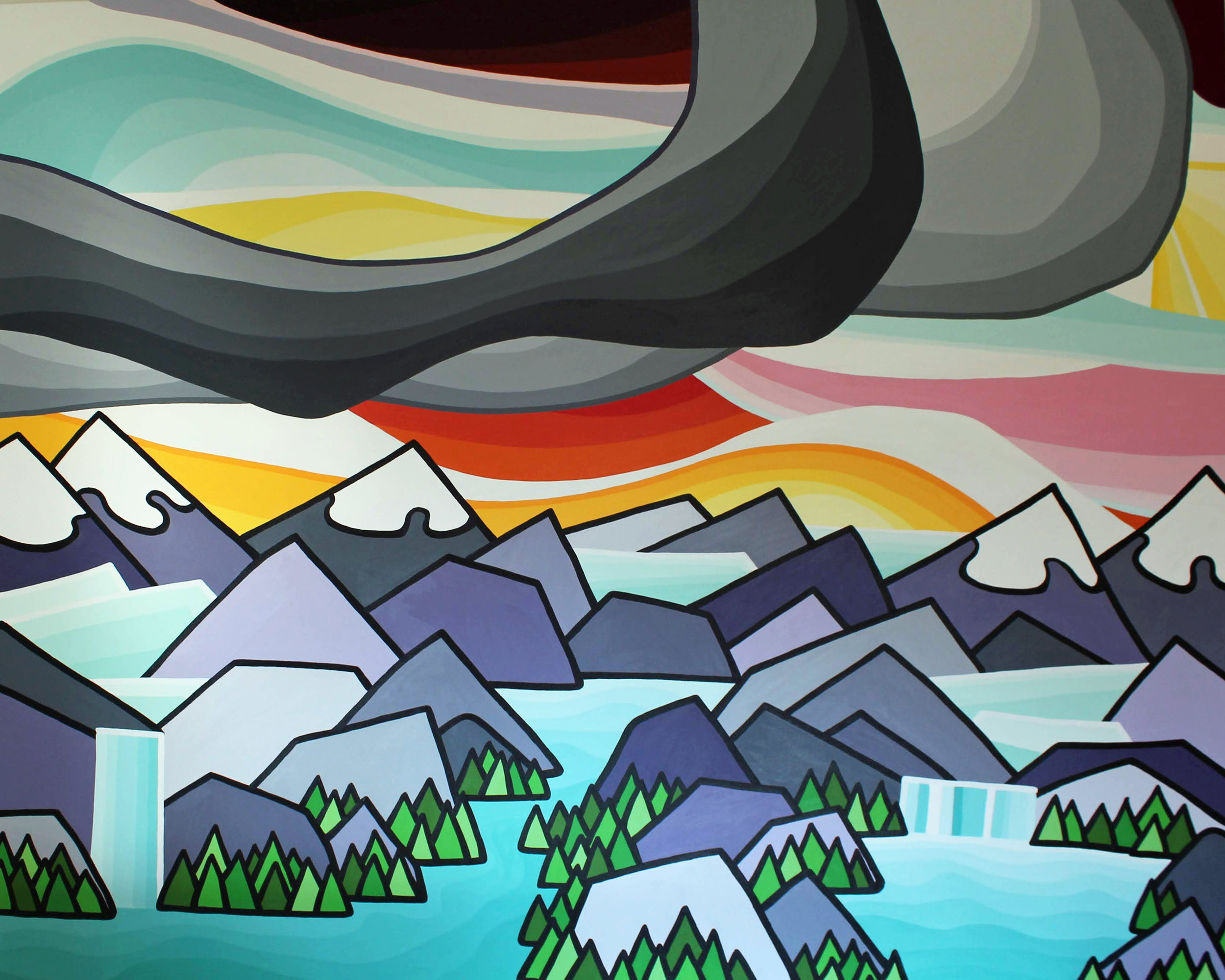 "Title: A Love of the Mountains II 48"" x 60"""