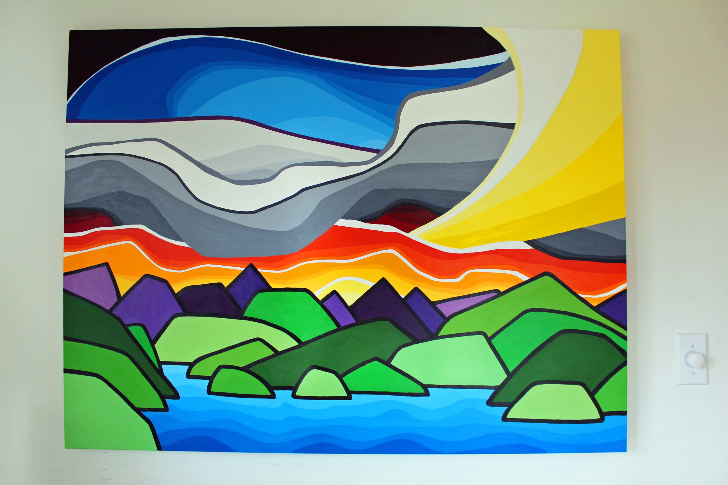 "Title: Afternoons on the Coast 36"" x 48"""
