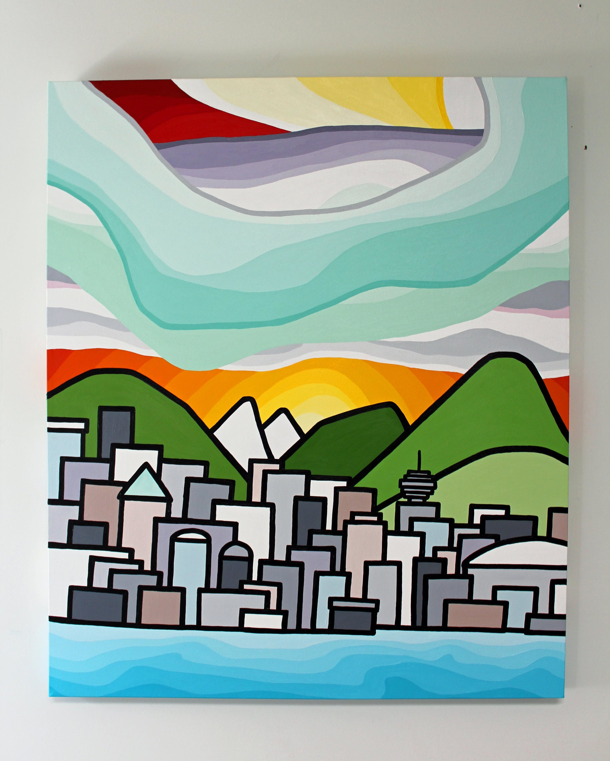 "Title: From False Creek 36"" x 30"""