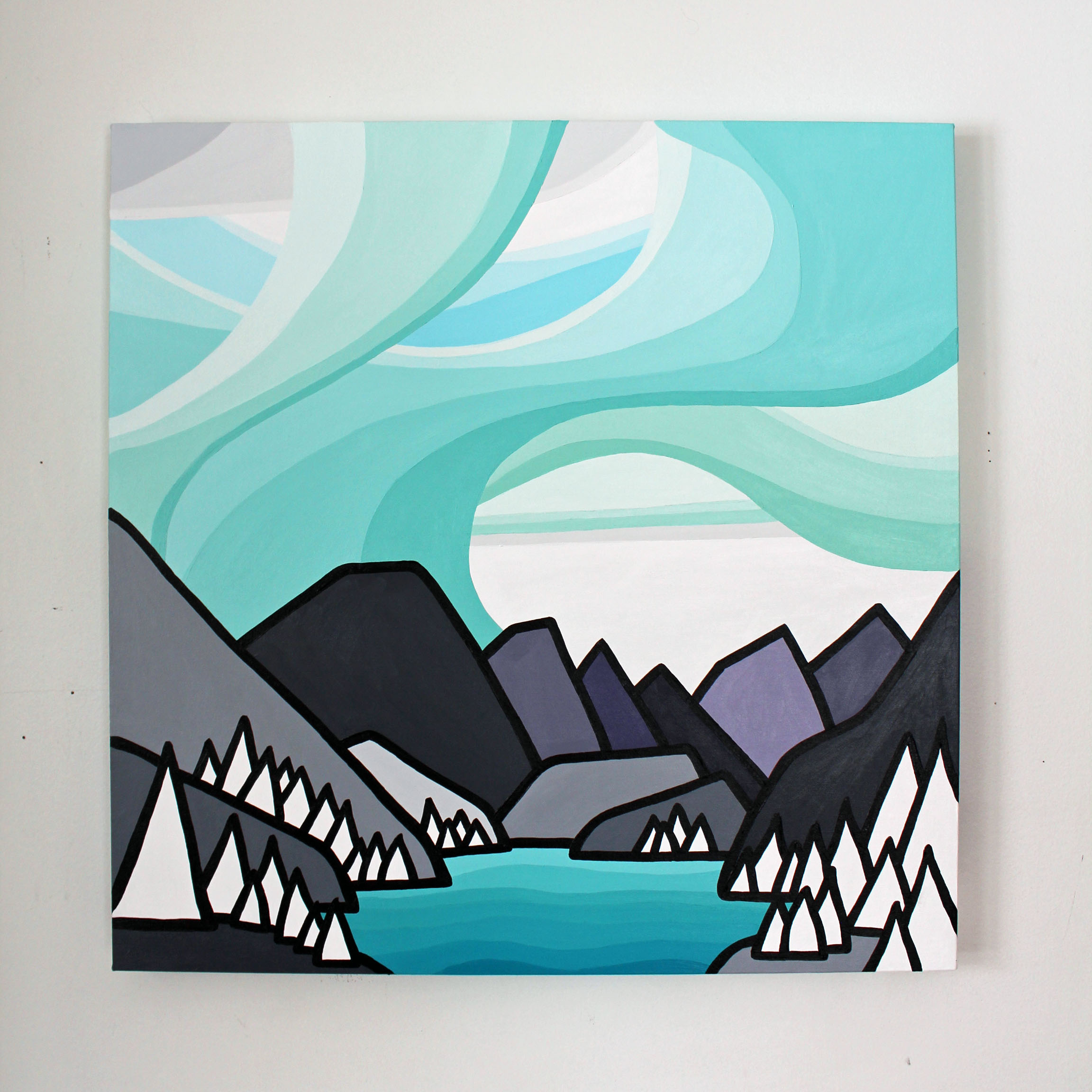 """Title: That Mountain Lake 24"""" x 24"""""""