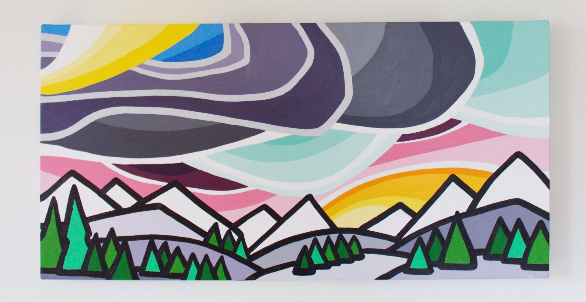 "Those Mountains - Size: 12"" x 24"" acrylic on canvasPrice: SOLD"