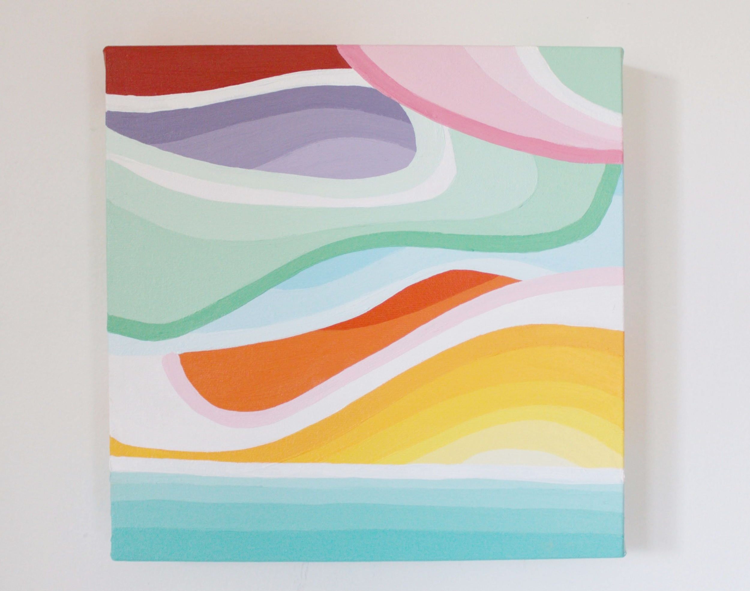 "Coast Sunset - Size: 10"" x 10"" acrylic on canvasPrice: $125 shipping availableTO PURCHASE CLICK HERE"