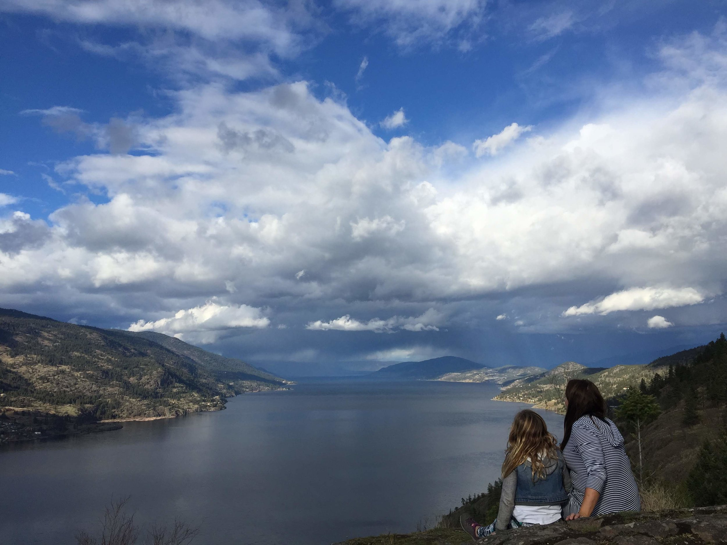 The View at the second lookout looking north along Okanagan Lake