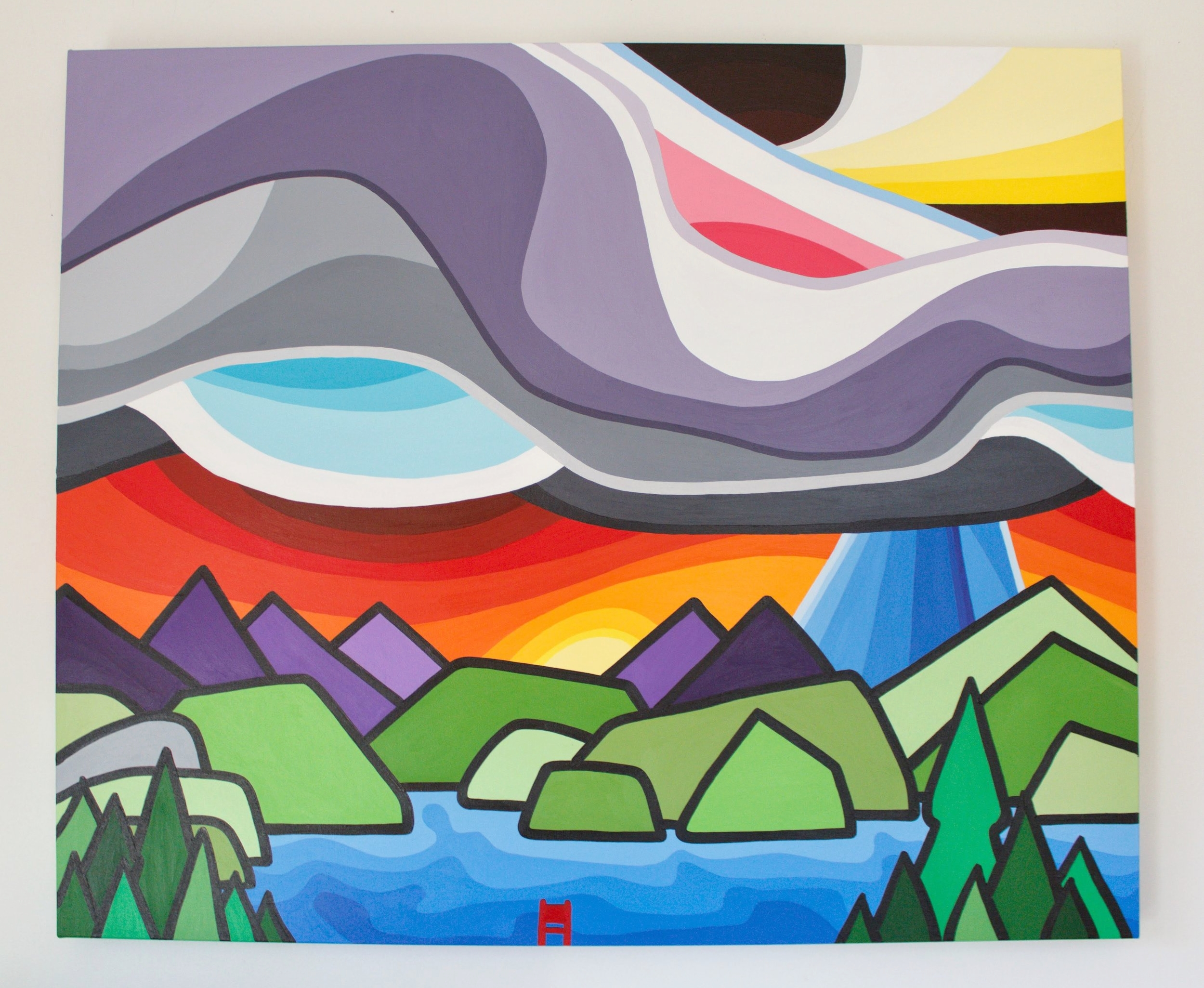 "Deep Cove - Size: 30"" x 36"" acrylic on canvasPrice: SOLD"