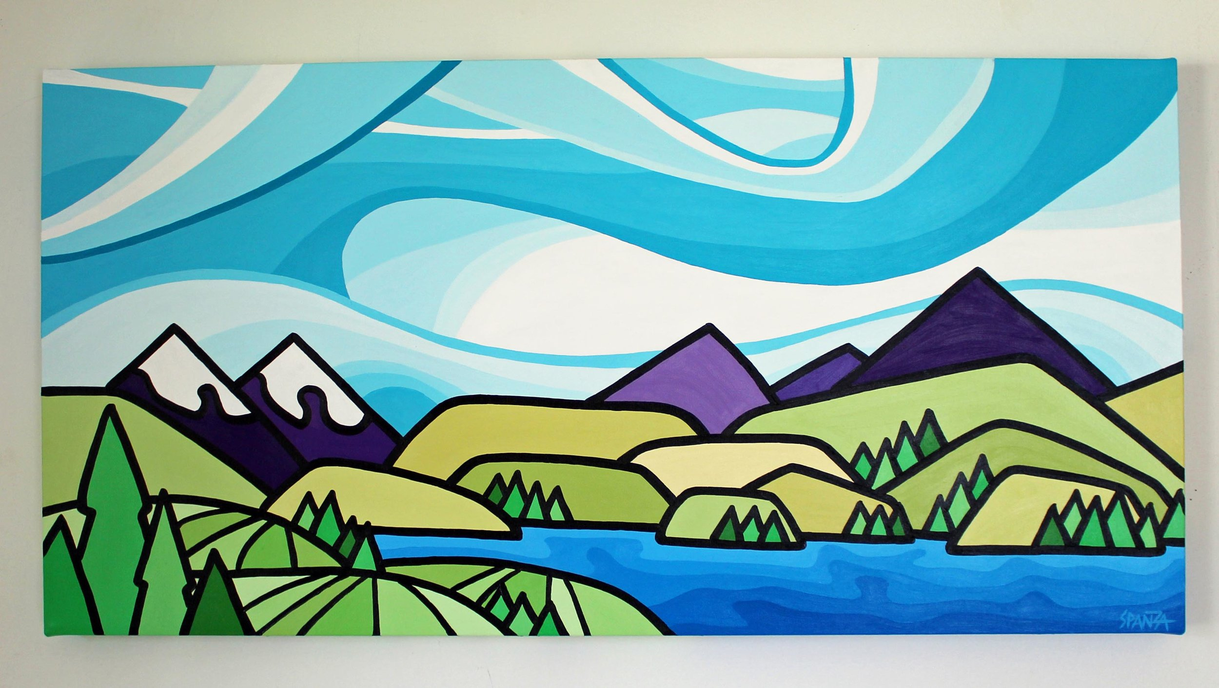 "BC Vineyards - Size: 18"" x 36"" acrylic on canvasPrice: SOLD"