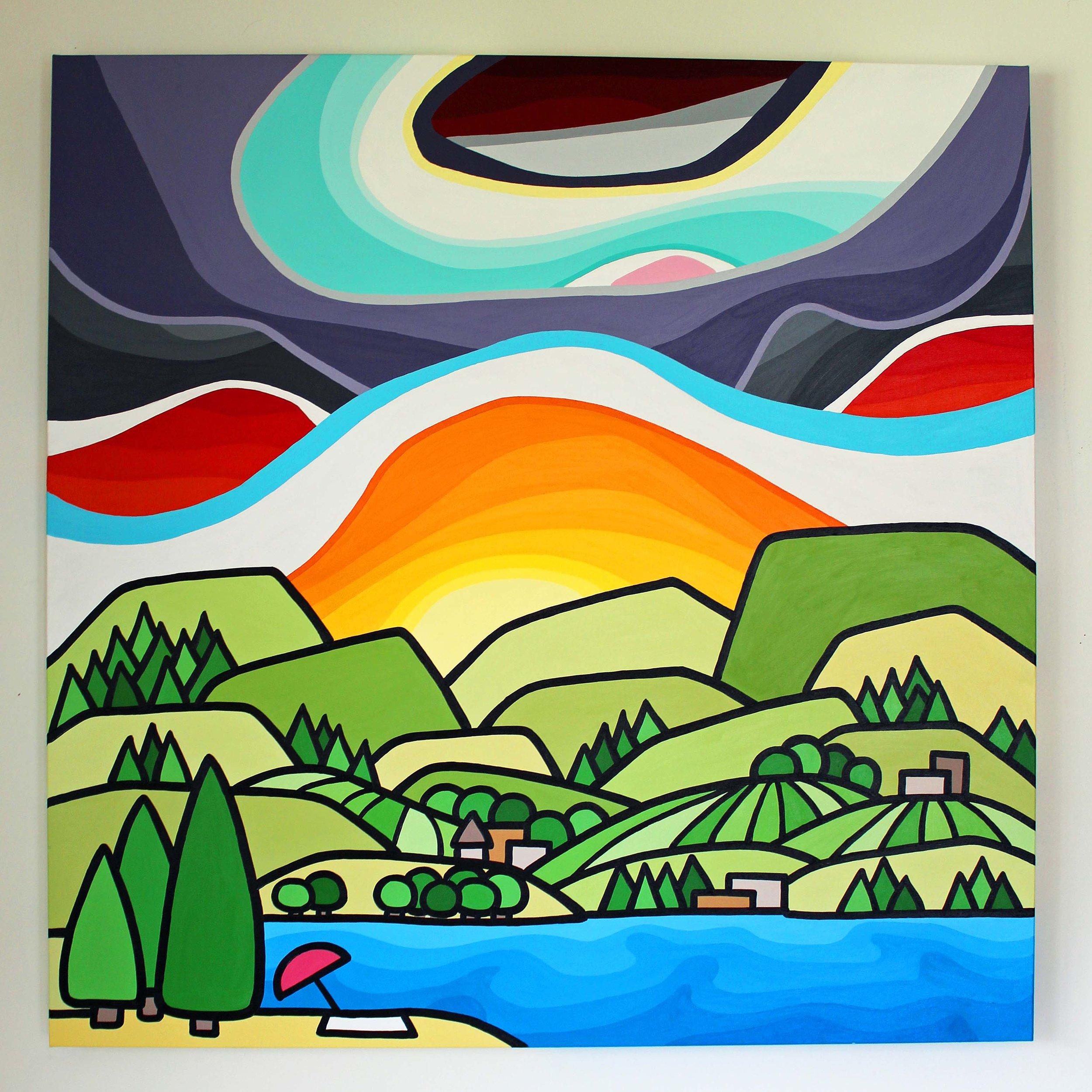 "Okanagan Summer Days - Size: 36"" x 36"" acrylic on canvasPrice: SOLD"