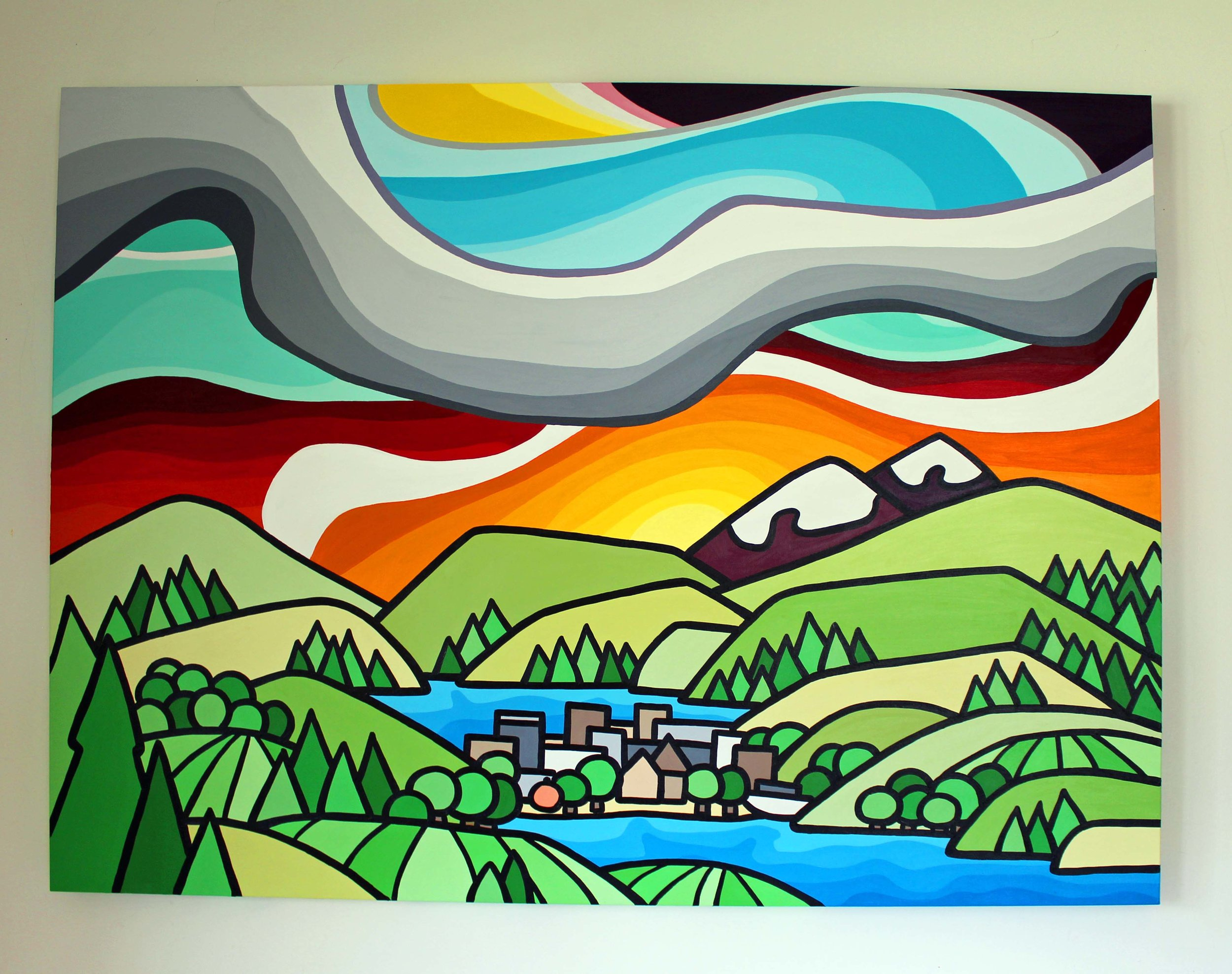 "Summer in Penticton - Size: 36"" x 48"" acrylic on canvasPrice: SOLD"