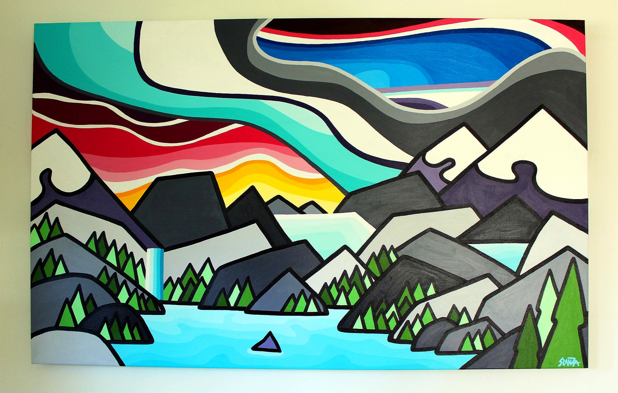 "That Little Island - Size: 30"" x 48"" acrylic on canvasPrice: $1200 shipping available"
