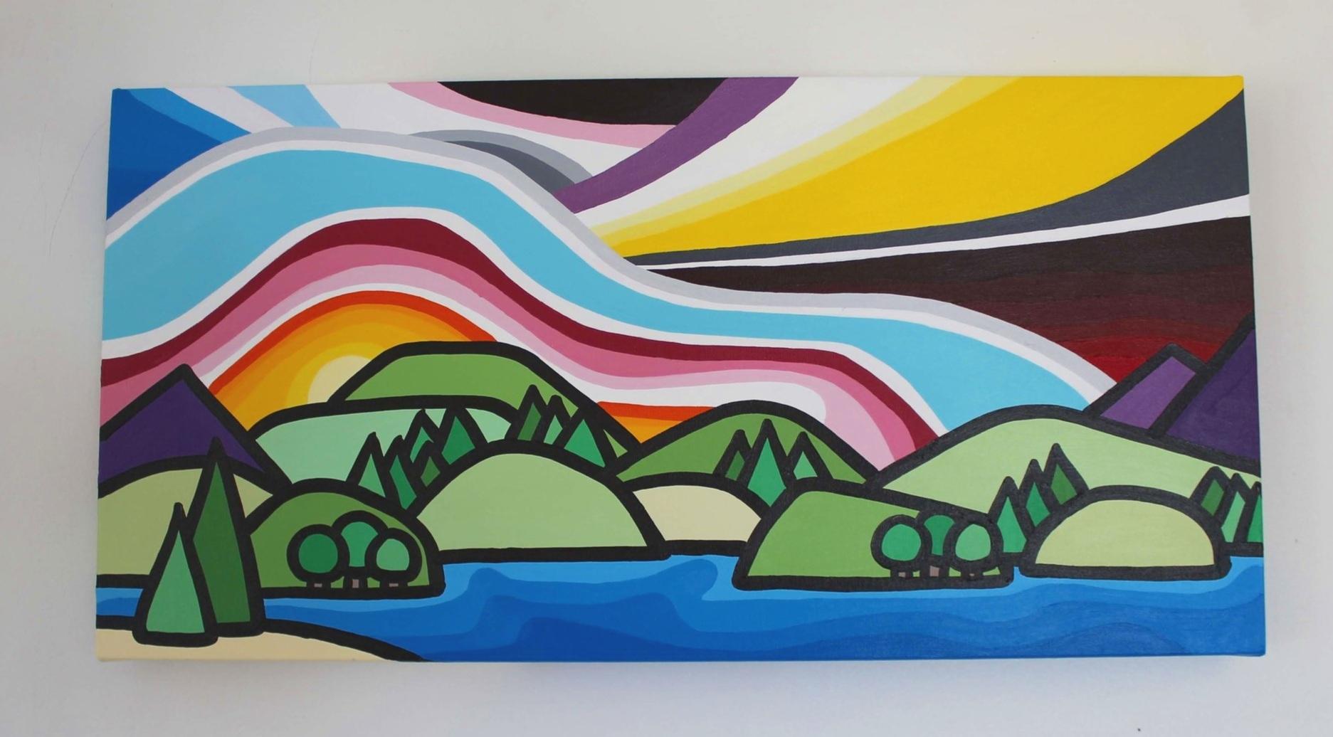 "Okanagan Lake - Size: 12"" x 24"" acrylic on canvasPrice: SOLD"