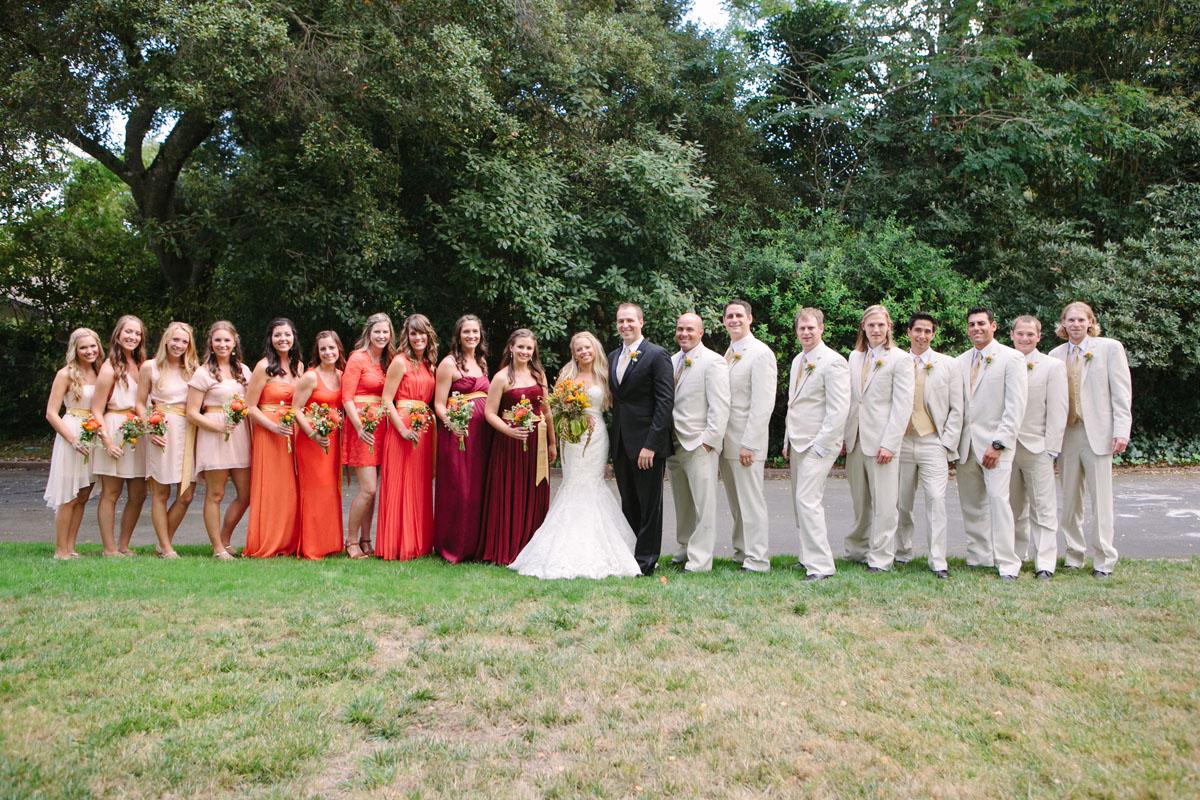 Coral_Pink_marroon_bridemaids_dresses