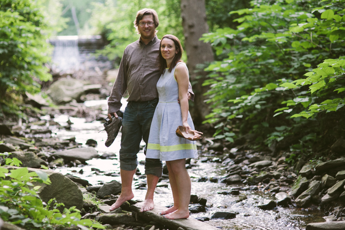 wissahickon engagement shoot