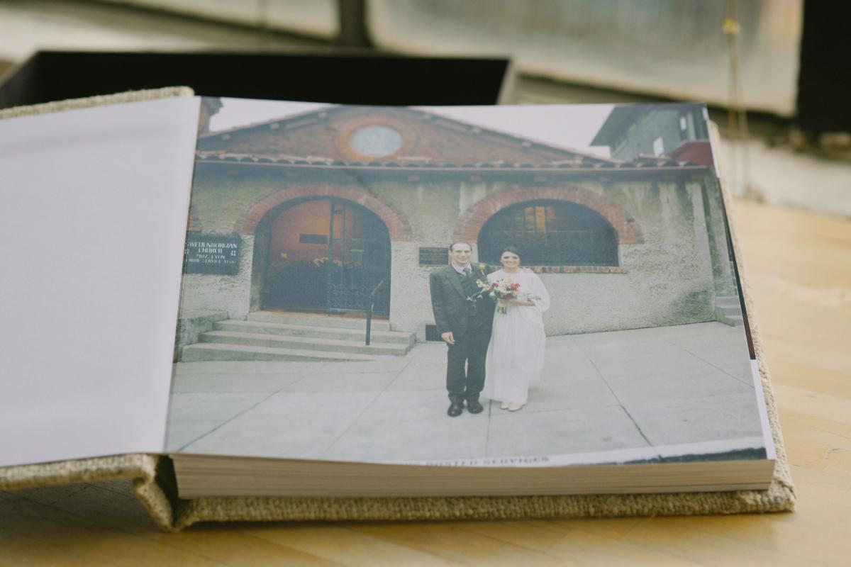 eco friendly wedding album