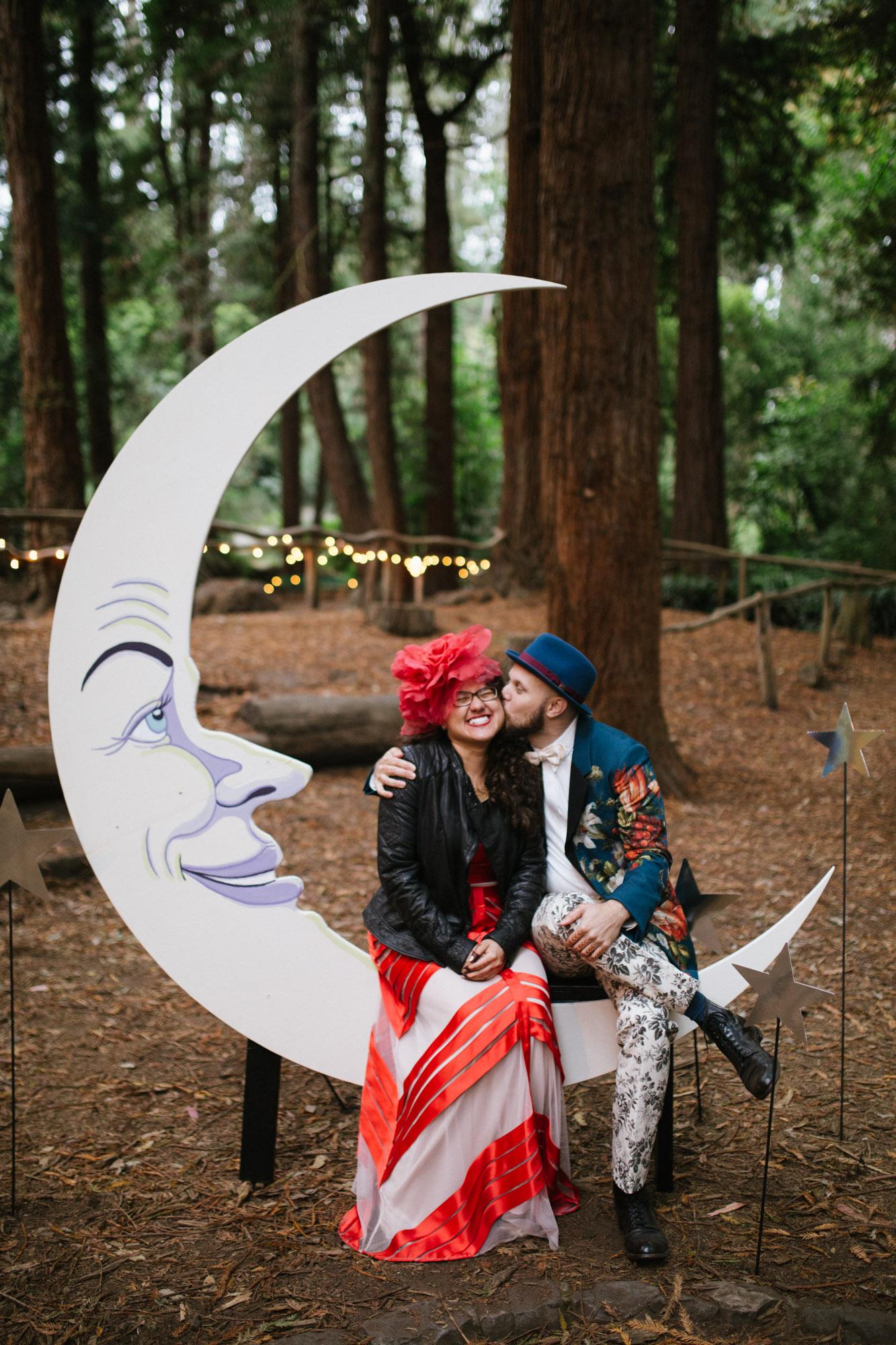 Moon Star Wedding Photo Booth DIY