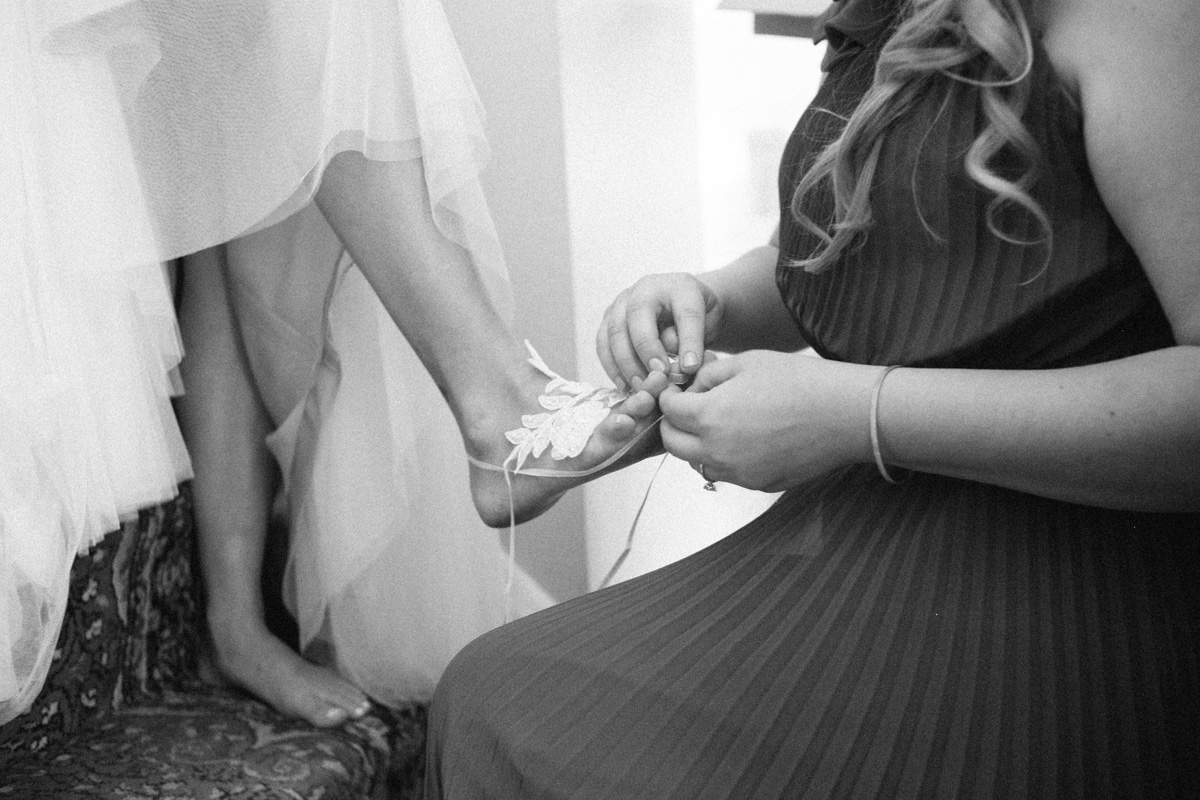 Celtic wedding shoes barefoot