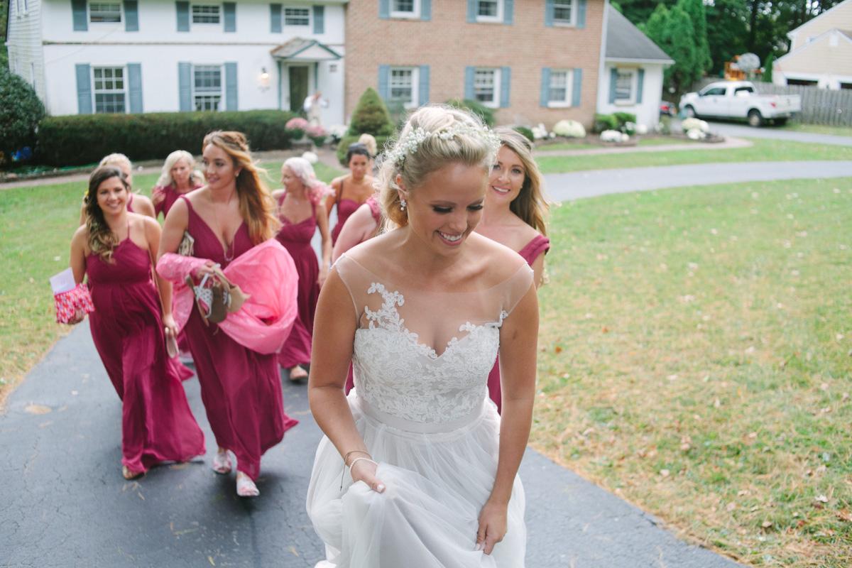 walking photo bride