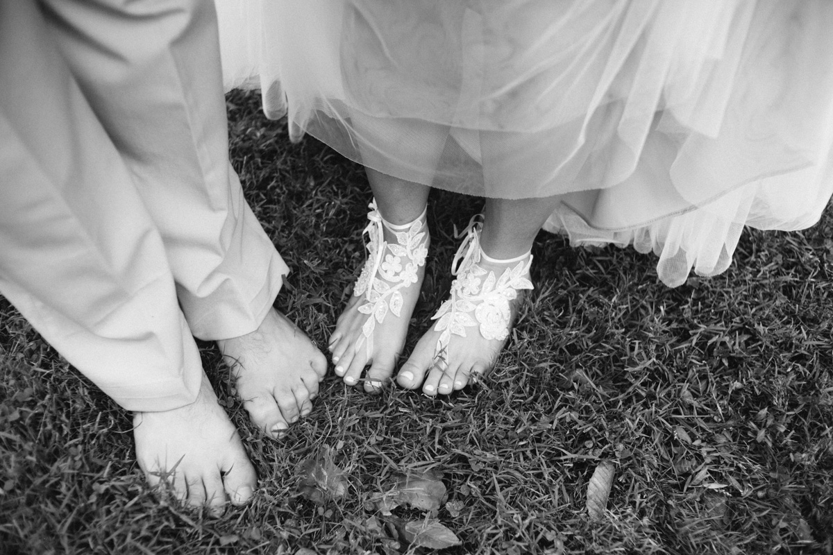 celtic wedding barefoot feet
