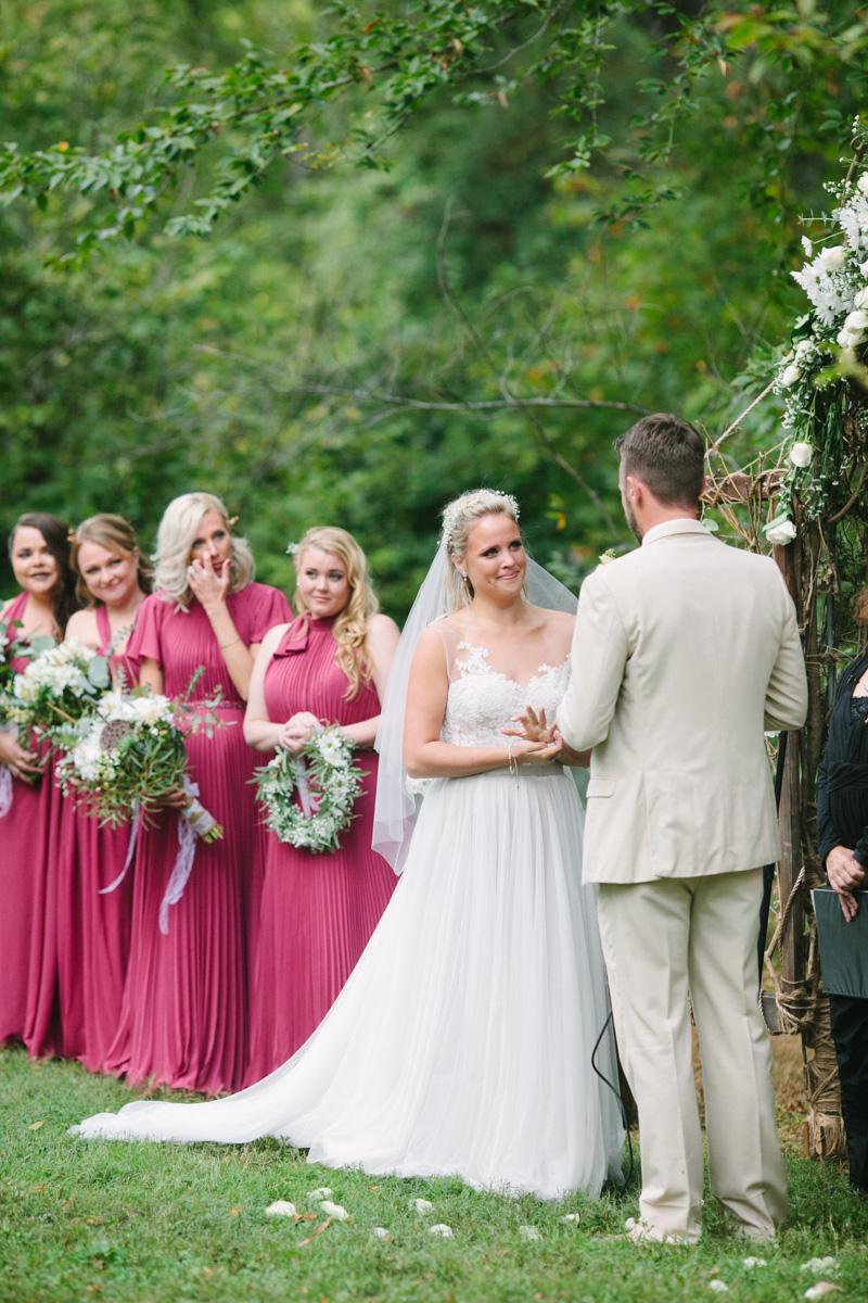 outdoor Tyler Arboretum Wedding