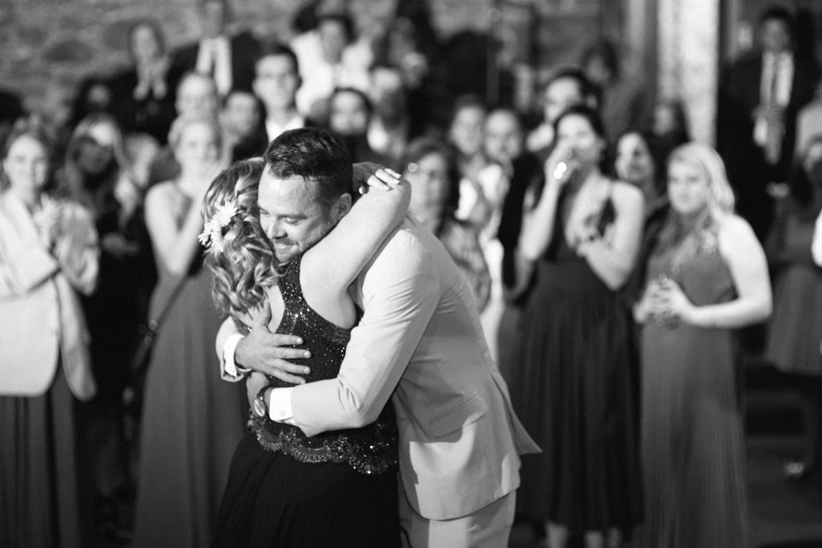 mother son dance wedding photo
