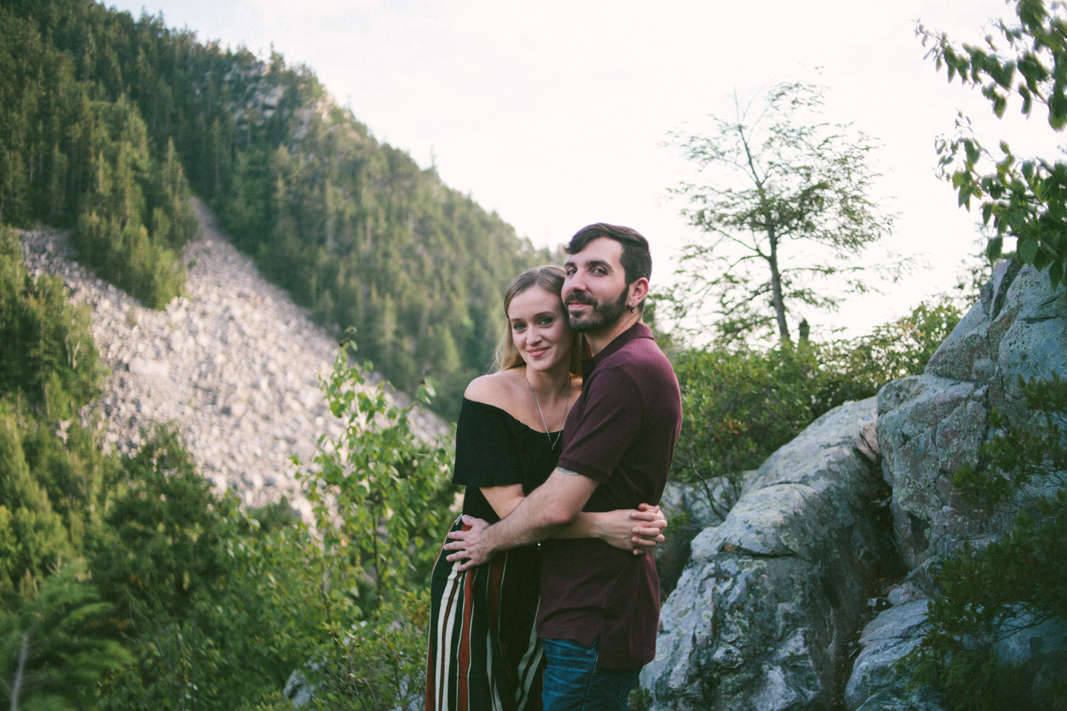 white rock engagement shoot vermont outdoor