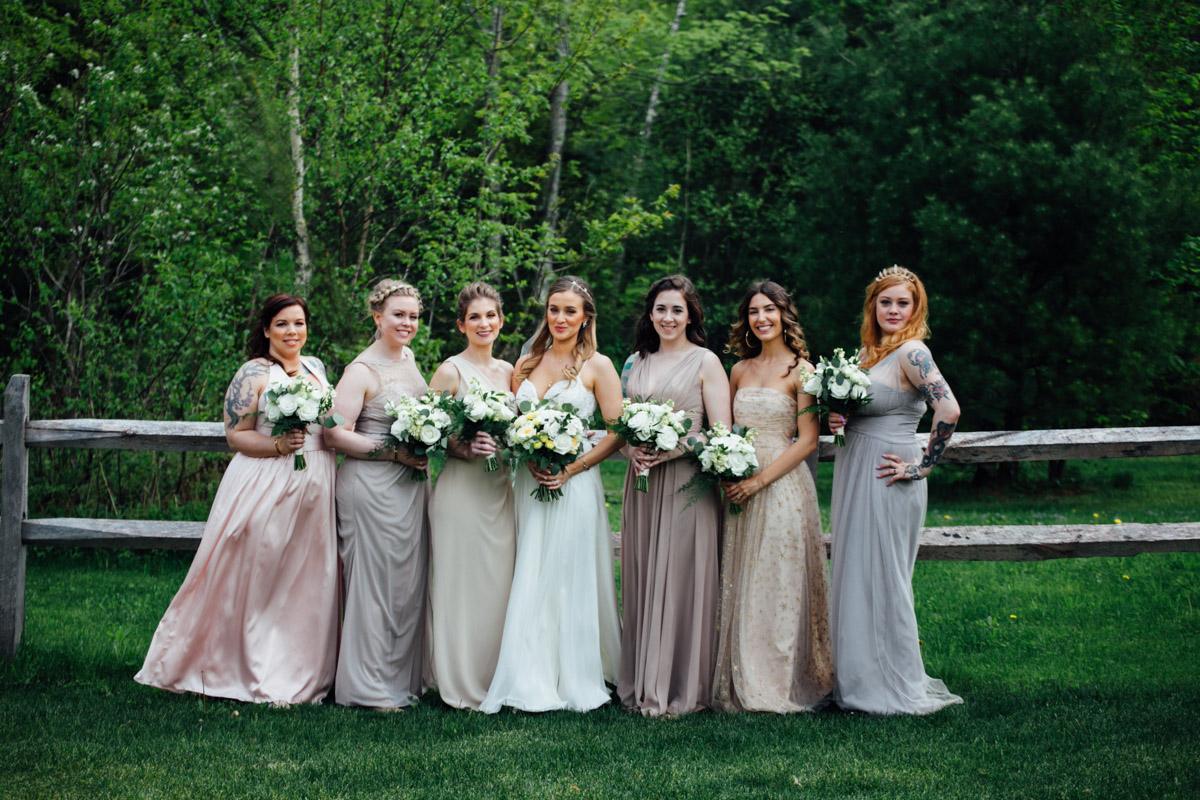 bridesmaids red river barn
