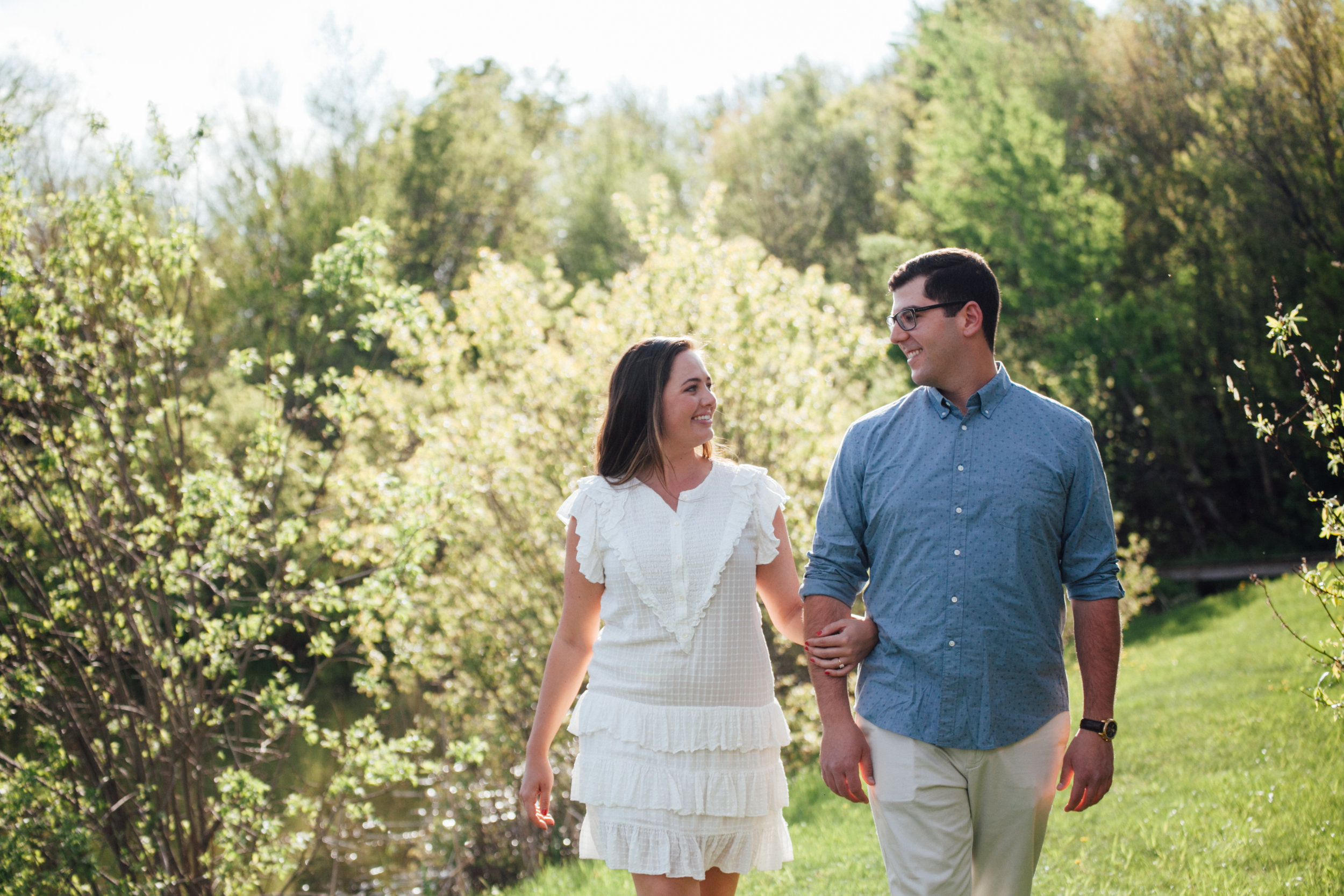 outdoor engagement shoot magic hour
