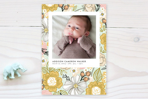 simple snapshot birth announcements   by  Alethea and Ruth