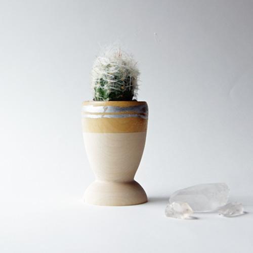 Small Wooden Planter, Silver Leaf Stripe.jpg