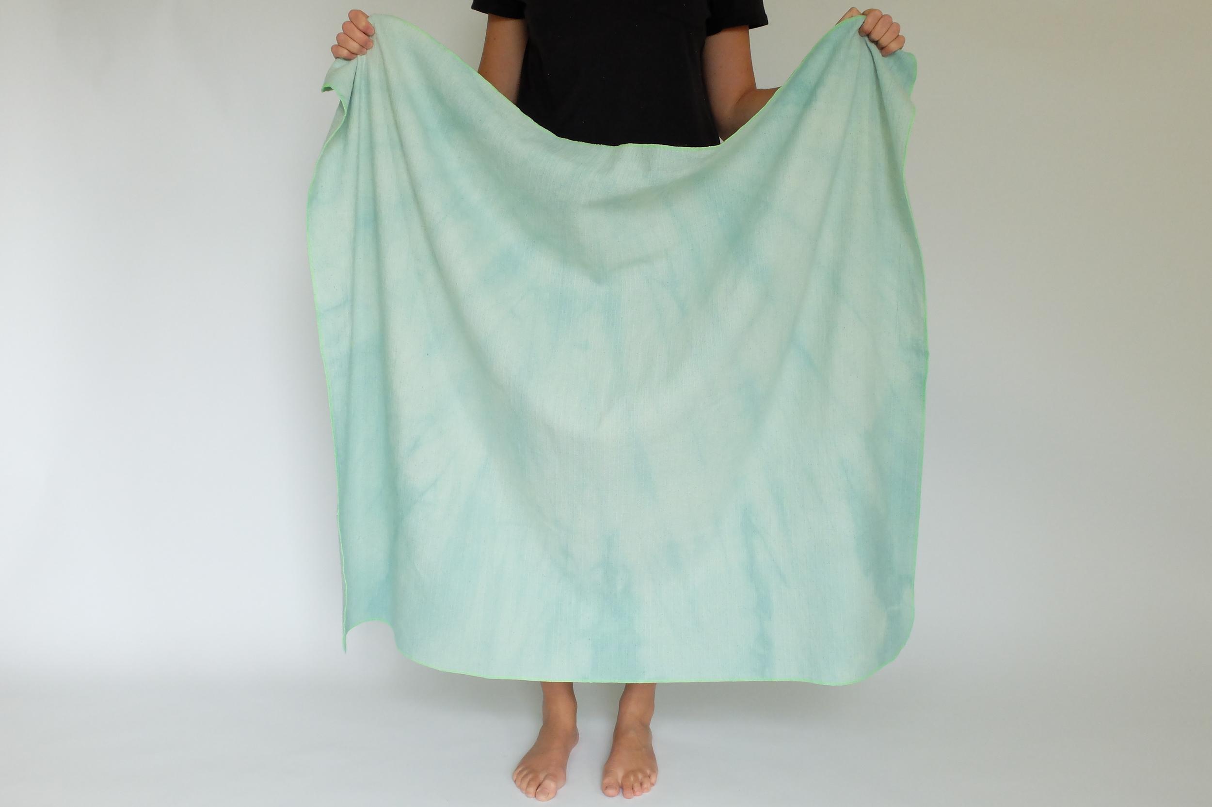 mint:green cloudy baby blanket.JPG