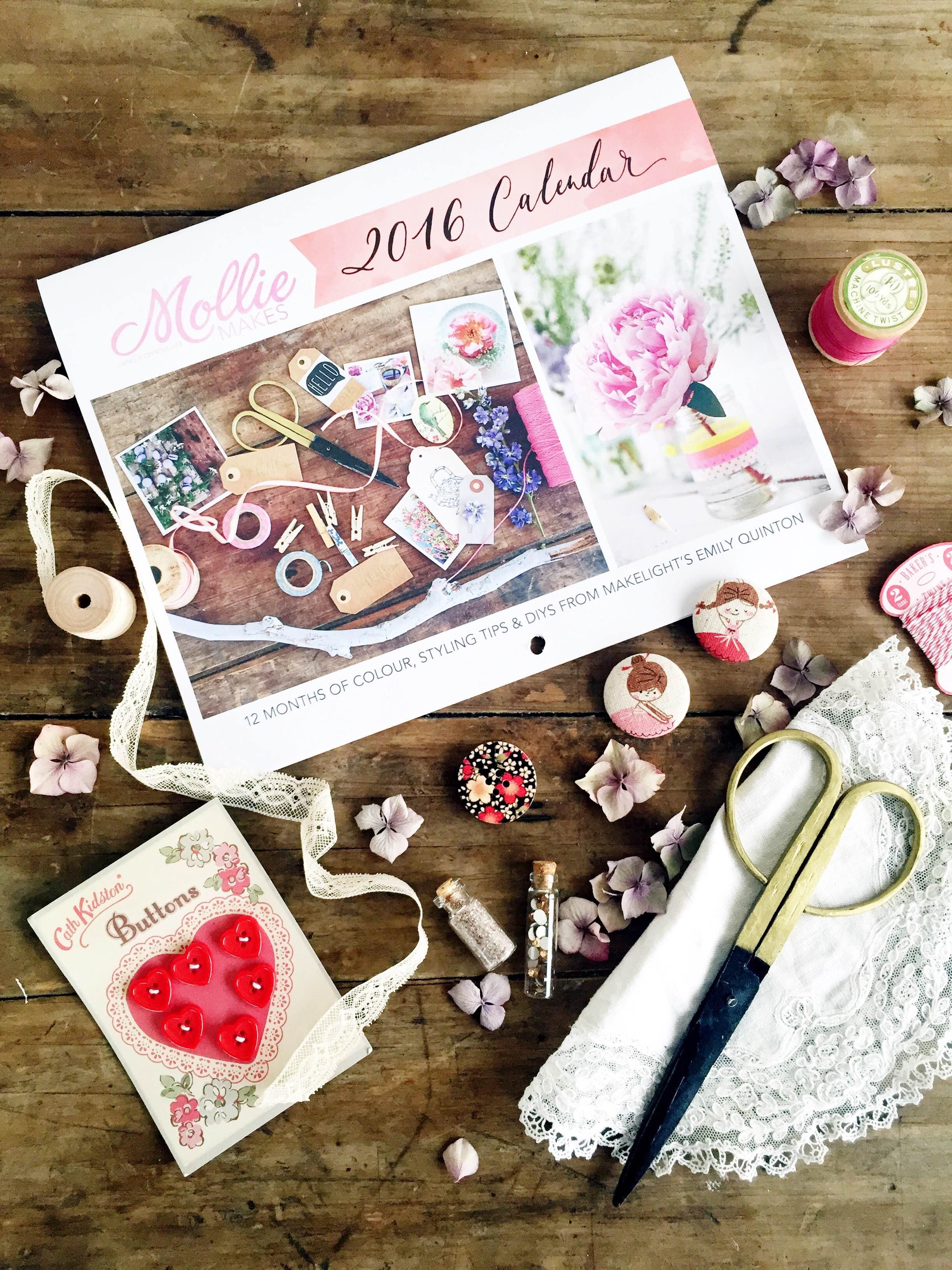 Mollie Makes 2016 Calendar by Emily Quinton | Makelight