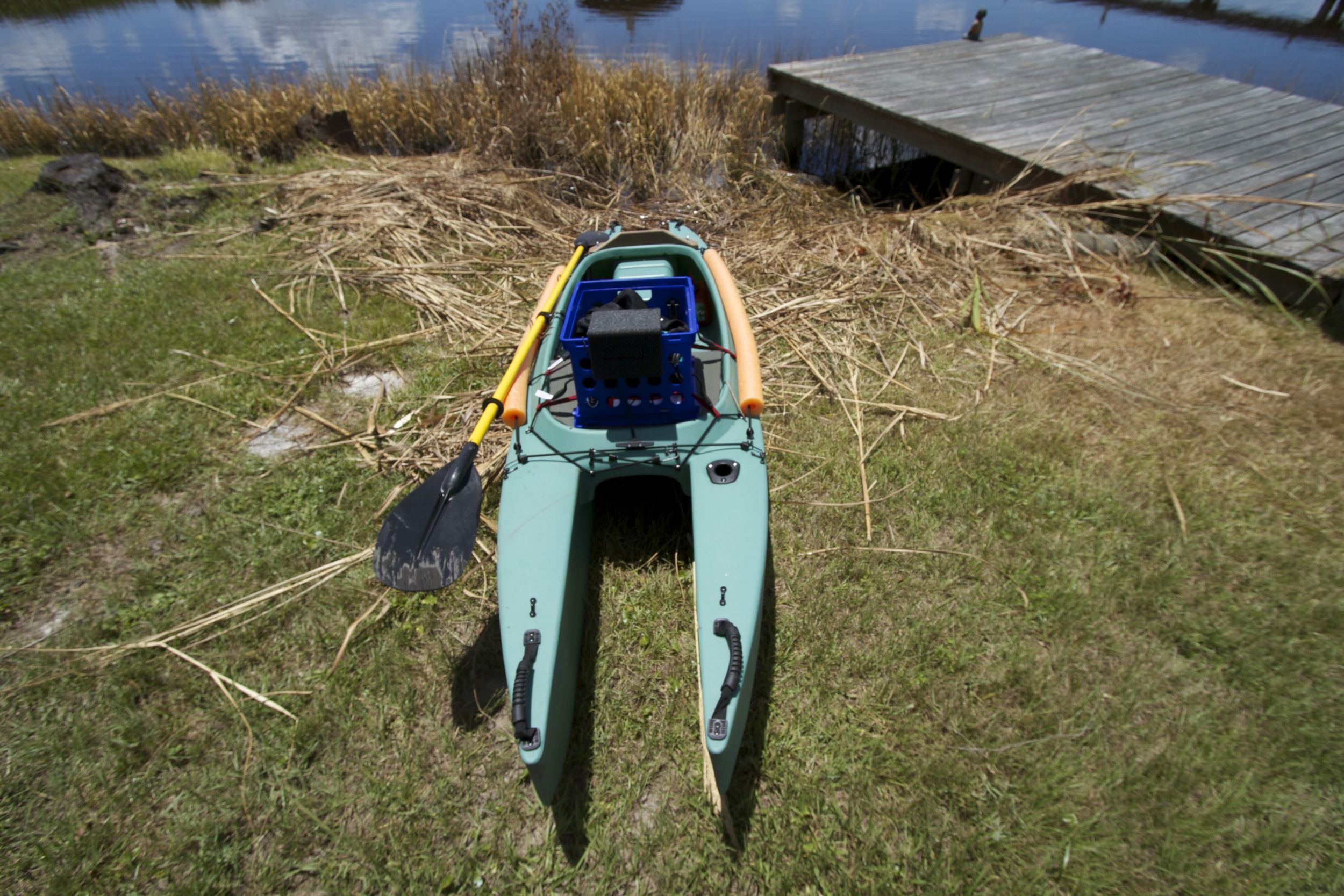 Front view of Kayak and launch site.