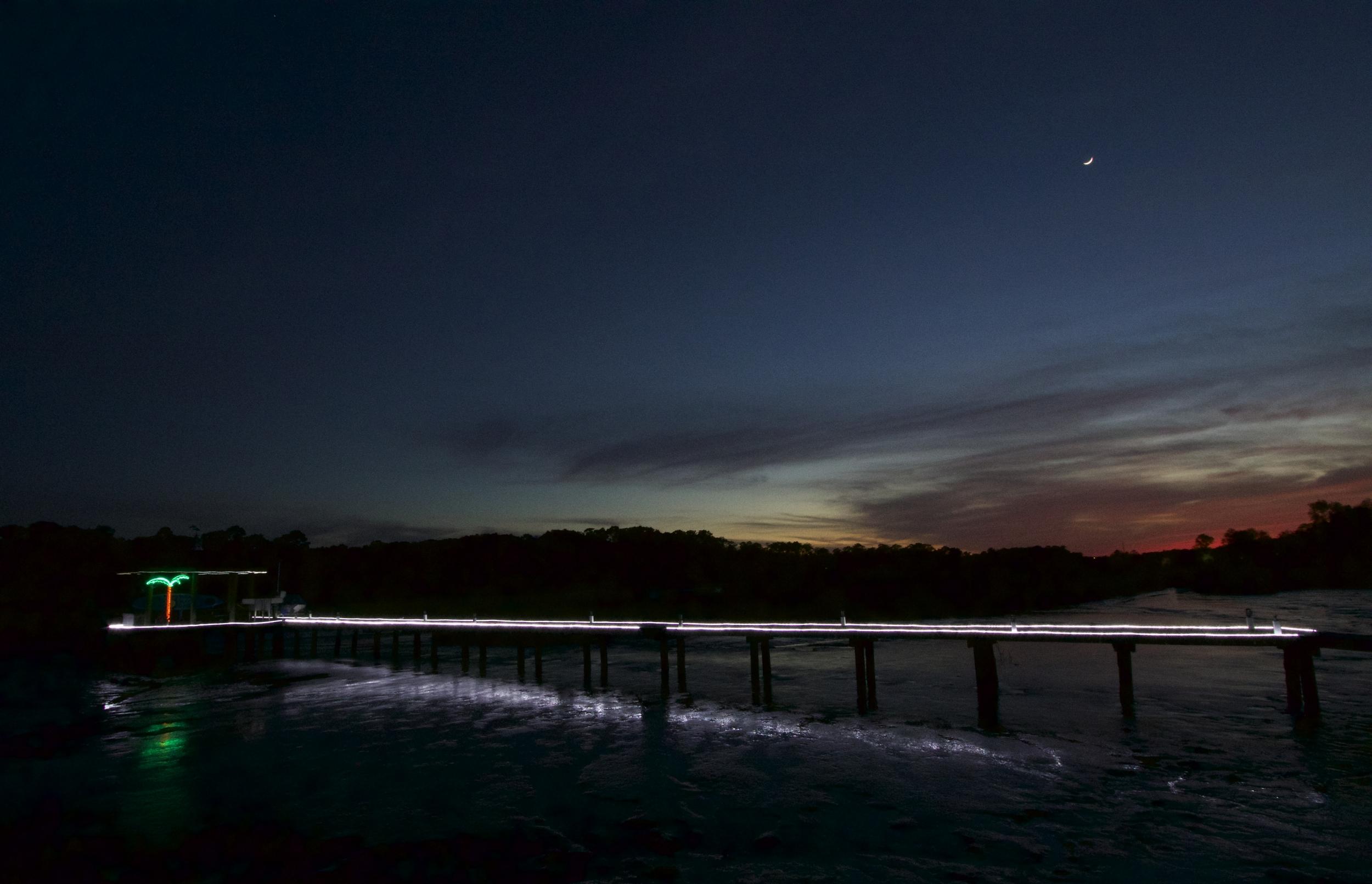 Sunset on the Broward and Doug's Dock Dedication..