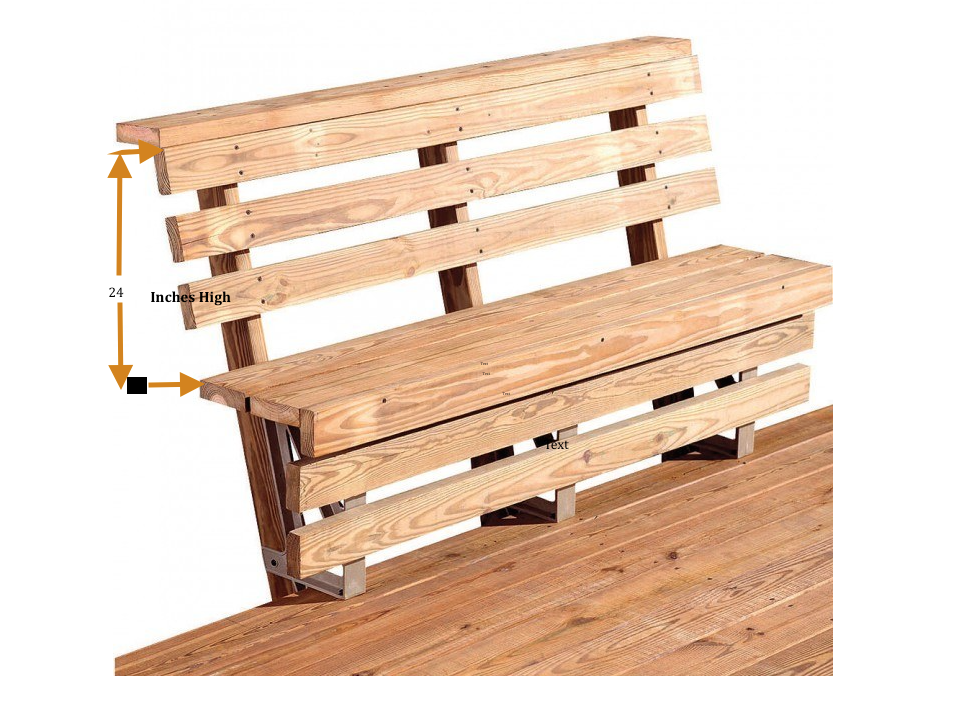 My original dock bench plans called for two benches, one facing West and one facing South!