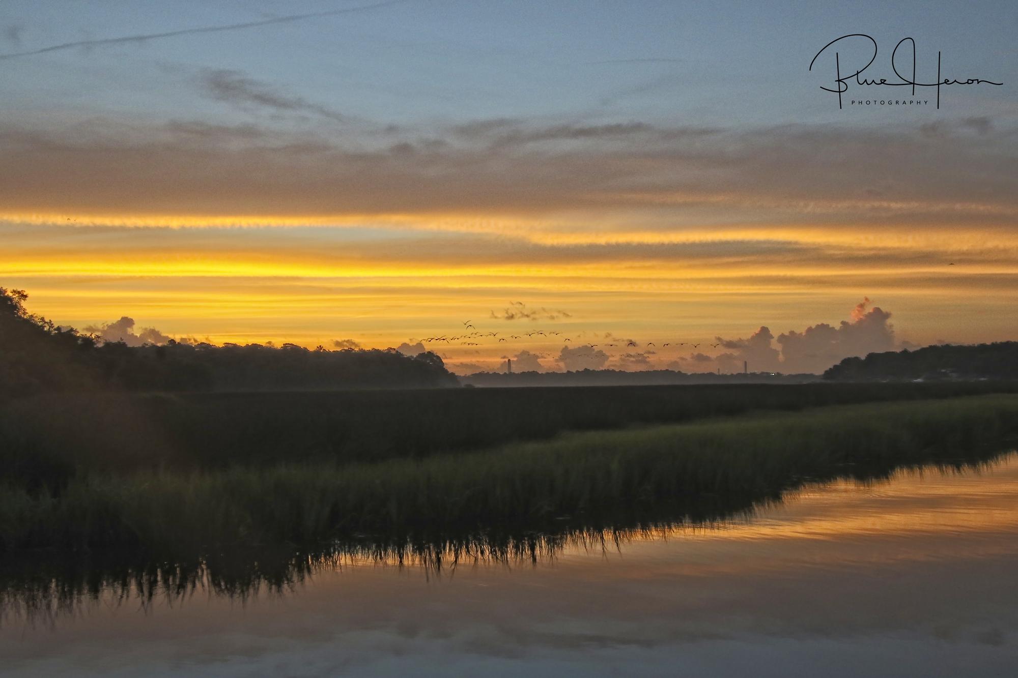Morning breaks over the Broward
