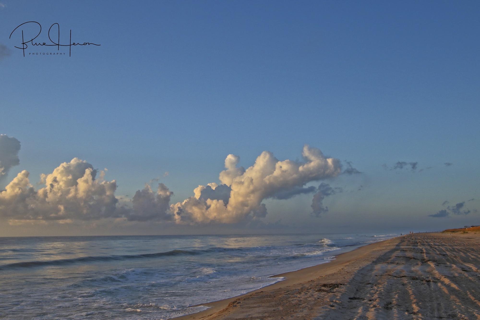 View down the beach..