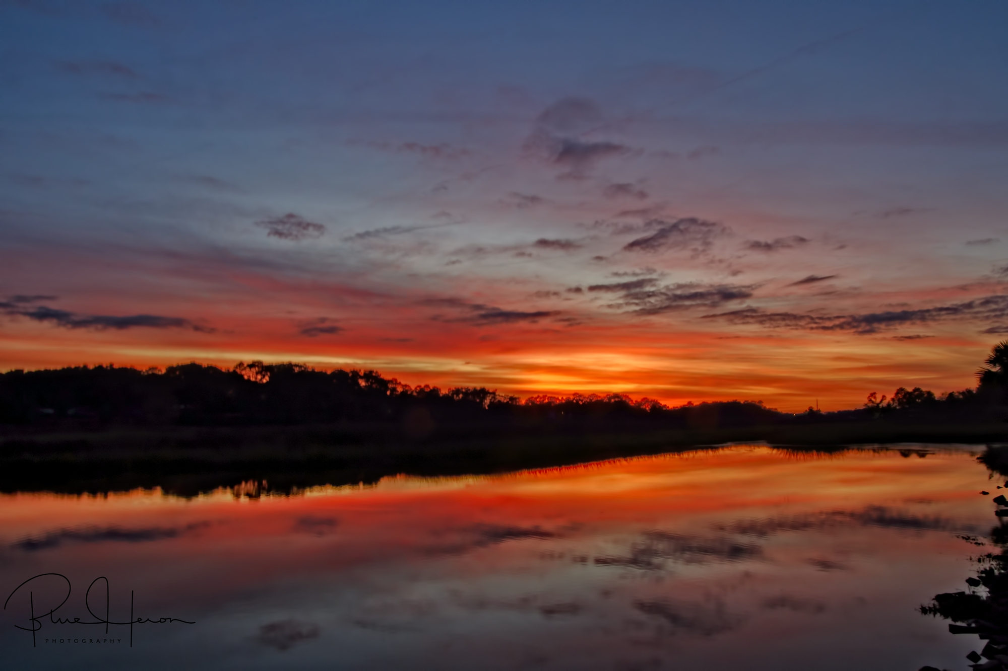 Red sky at night….sailors delight…what a beautiful evening glow on the Broward..and there was evening..