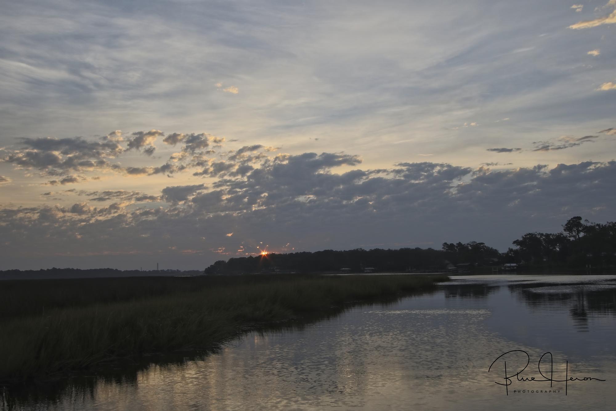 Gray December skies greet me on the pier as dawn breaks on the Broward