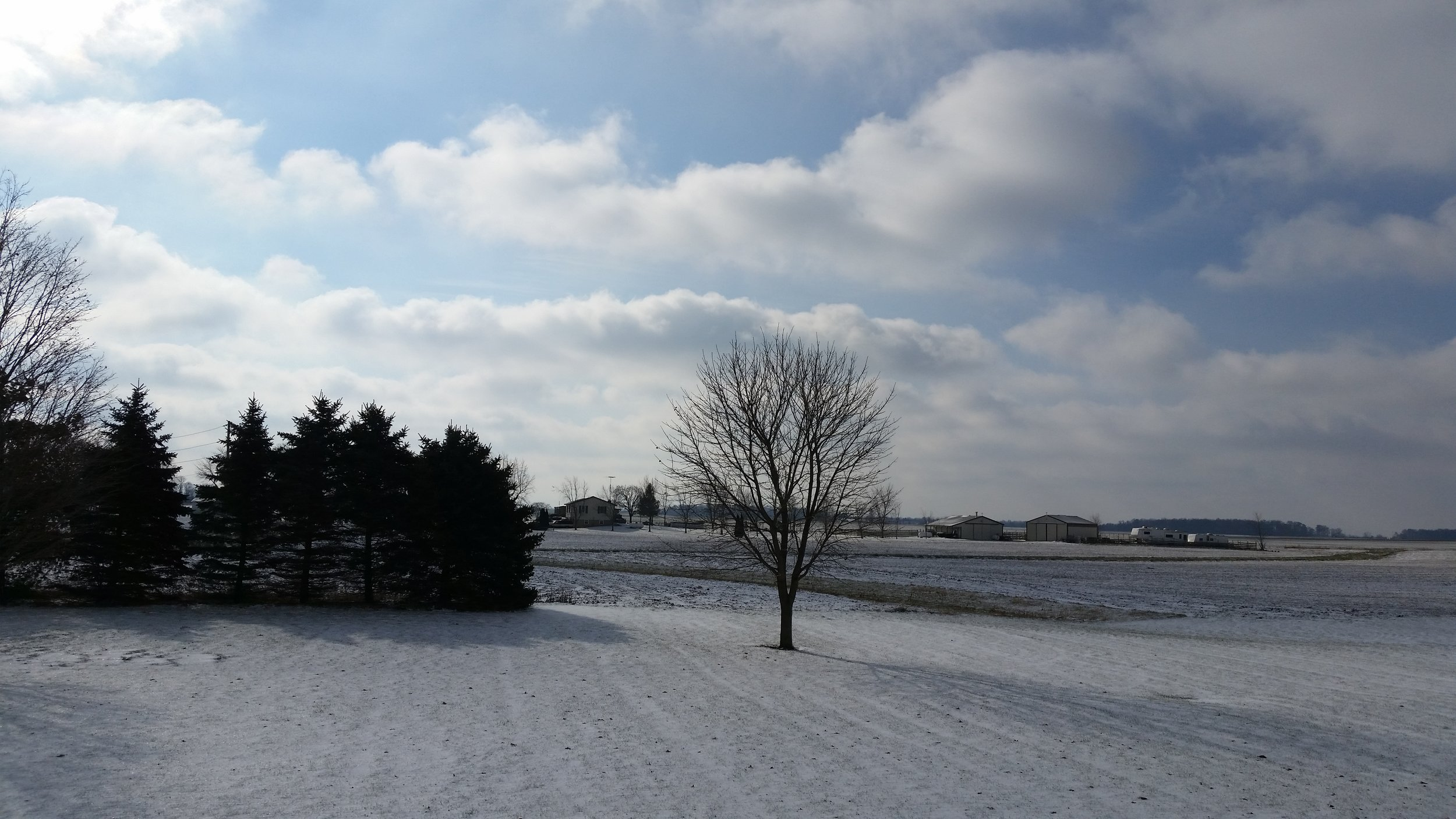 "Snow covered fields of Ohio where all the ""fun"" began…"