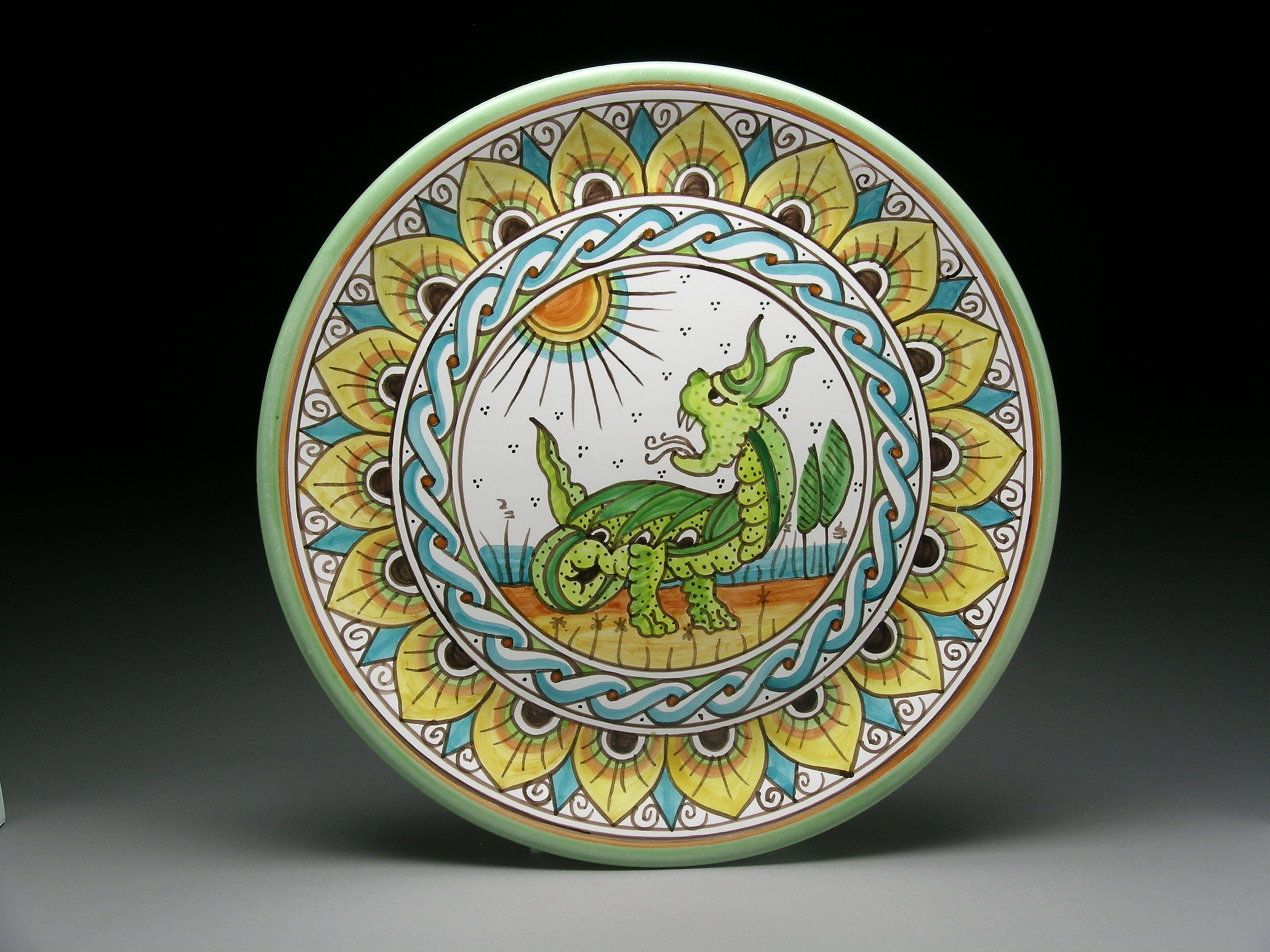 Large Dragon Plate 12""