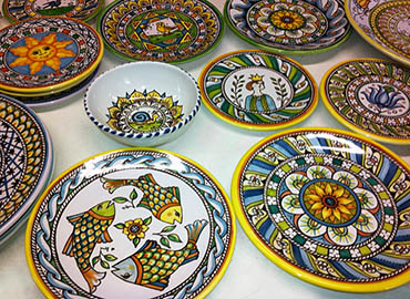 Multiple plates and bowls