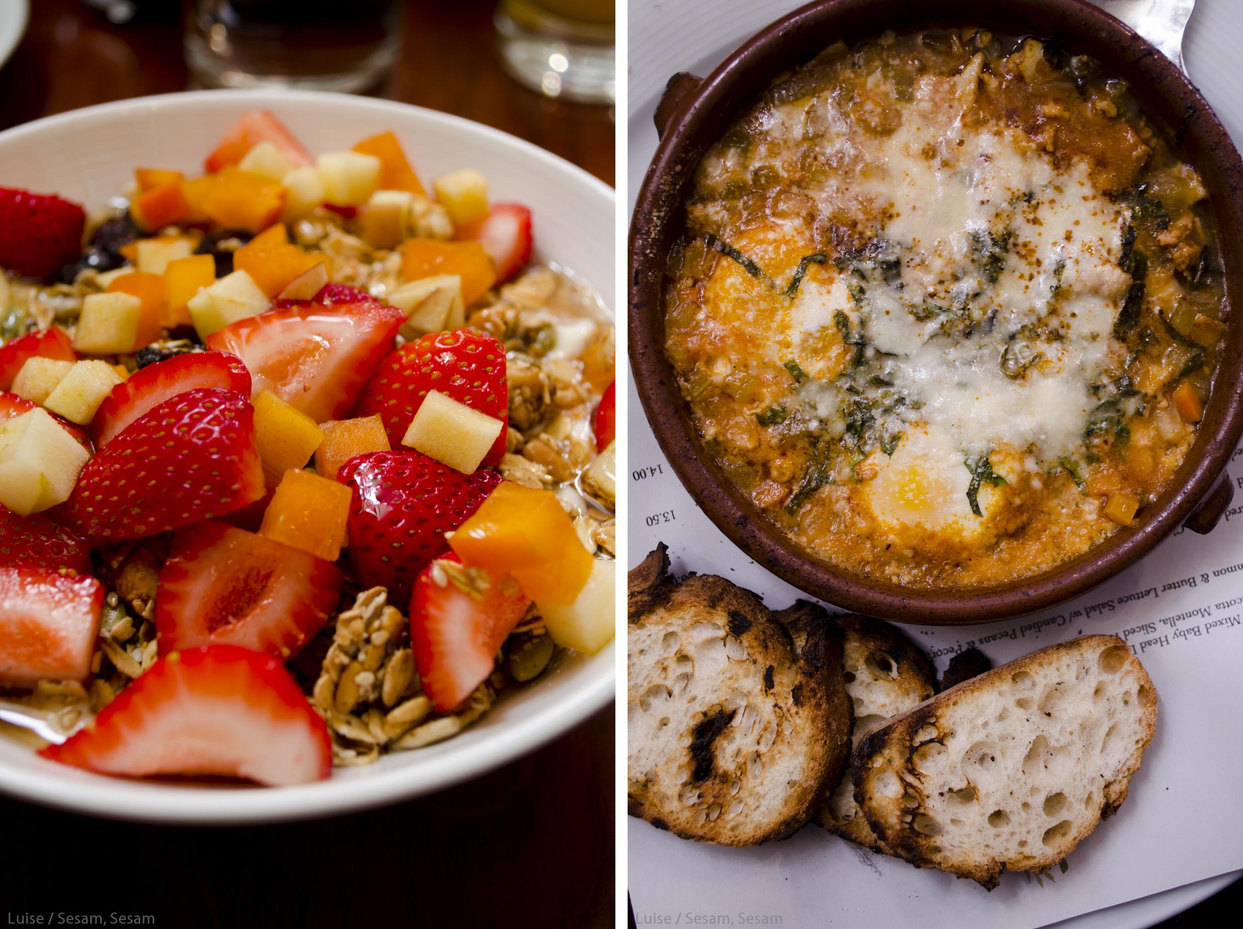 Morgenmad på Olèa i San Francisco
