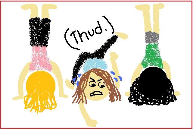 Headstand fail #yoga Image credit: ceciliaabraham.blogspot.com