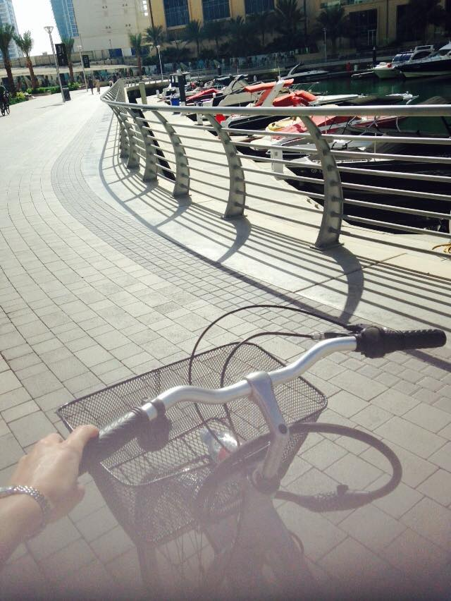 Hiring a bike to enjoy exercising in style around Dubai Marina!