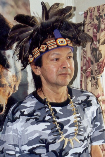 Ray John Sr. Bear Clan Chief Oneida Nation of the Thames, Friend, Kinoamageinini, singer. Ray was the inspiration and elder who gave me my first deweigan, and told me it was ok for me as a woman to sing with a hand drum when all the other men around me had said that we could not sing. He gave me the courage to sing, and later on in my journey I was led to a women's talking circle in mt. pleasant, and met Mae and the rest is history.... He taught me many things about the world, about language learning and teaching both his language and mine, about traditional stories and history of his people and mine, about plants and medicines, and songs... so many things.